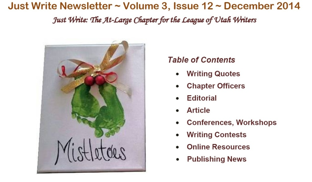 Just Write Newsletter December 2014
